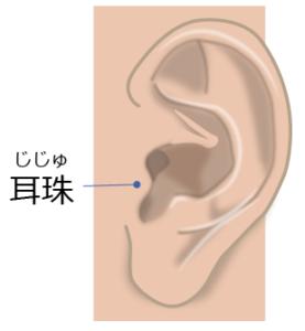 耳珠(じじゅ)は副腎を表す
