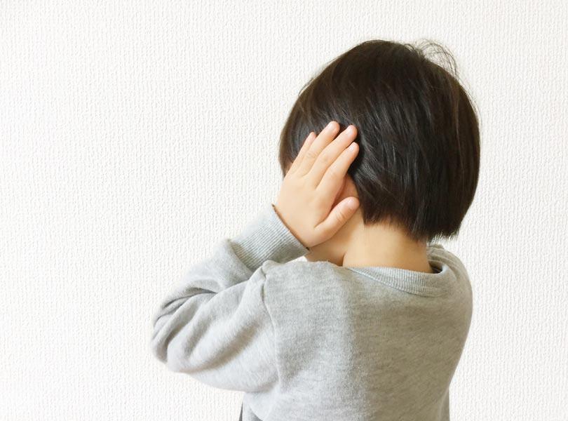 中耳炎の子ども